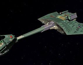 STAR TREK - KLINGON KTINGA SHIFT CLASS 3D asset