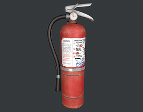 Fire Extinguisher old 3D asset game-ready