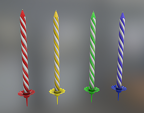Candles for Cake 3D asset