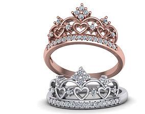 Crown ring 3d print model 0227