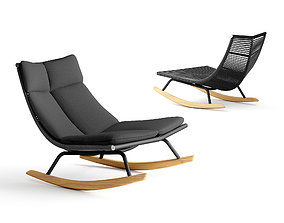 Roda Laze lounge and rocking chair 3D