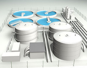 Treatment plant 3D model