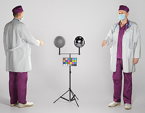 Medical doctor male is shaking hand 170 3D model