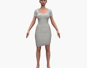 3D model rigged game-ready Female unreal