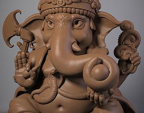 cartoon-elephant 3D print model Ganesha
