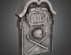 3D model Grave Stone Cemetery 7 CEM - PBR Game