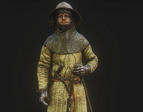 Lightly Armed Medieval Knight 3d Scan wear