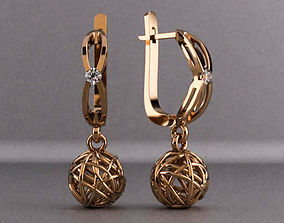 Earrings Fantasy 3D print model