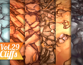 3D asset Stylized Cliffs Vol 29 - Hand Painted
