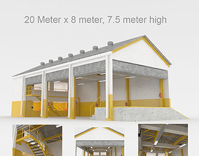 Industrial factory loading bay area 3D