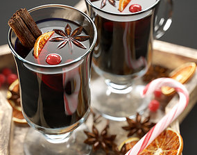 Christmas mulled wine 3D miscellaneous