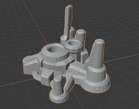 armory solid Barracks Orbital Command 3D printable model 1