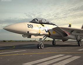 Grumman F-14 Tomcat army 3D model