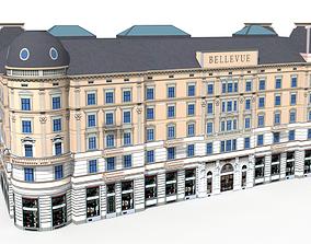 Zurich Corner Building Bellevueplatz 3D model