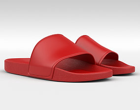Rubber Slip-on Sandals beach 3D