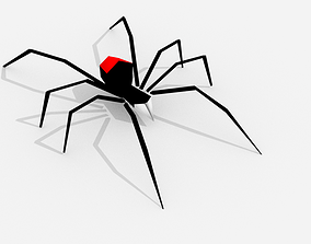 3D model animated realtime Spider