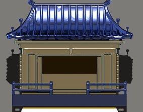 3D korean miniature temple