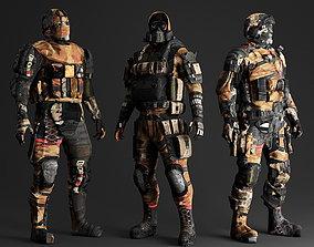 VR / AR ready PBR Survivor Cyborg Robot Low-poly 2