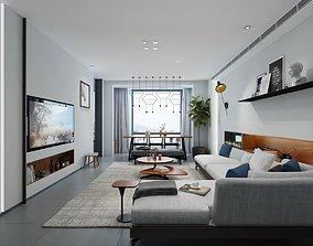 3D Living room interior furniture apartment