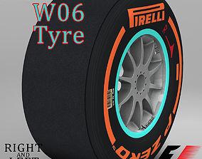 W06 hard front tyre 3D asset