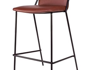 3D model Sling Upholstered Bar and Counter Stool