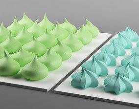 3D Cake 16 meringues