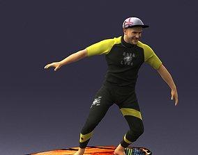 wind Man on a surfboard 0291 3D Print Ready