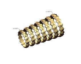 3D print model Hexagonal pyramid stud motif band US size