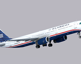 3D asset VR / AR ready Airbus A321-200 US Airways