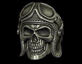 biker skull ring 3D print model