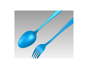 Real Stainless steel Spoon and Fork 3D Scan stainlesssteel