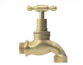 3D Old faucet tap
