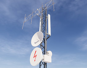 Network Antenna Tower stereo 3D model