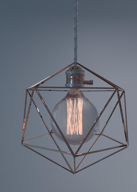 Geometric Edison Lamps