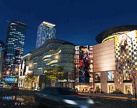 modern night city 3D