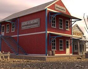 3D asset WILD WEST BUILDING 4