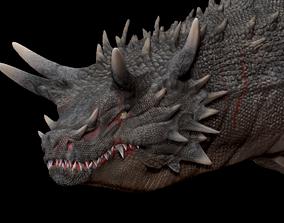 3D print model Dragon head Sculpture 2
