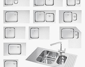 3D model game-ready Barazza sinks kitchen