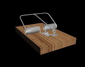 mousetrap 3D asset low-poly