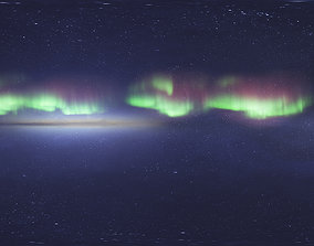 3D Skydome HDRI - Northern Lights 4 with Real-Time Footage