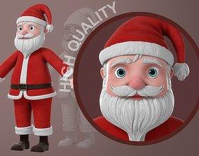 3D Cartoon Santa Claus NoRig