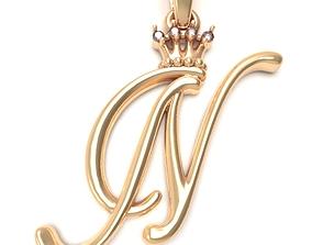 Alphabet Initial pendant letter N 3D printable model