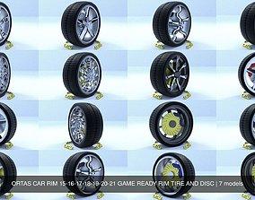 ORTAS CAR RIM 15-16-17-18-19-20-21 GAME READY RIM 3D 2