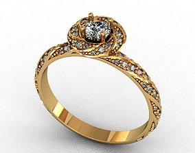 rings rhinoceros Diamond Ring 3D print model