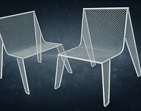 Hexagonal Grid Chair 3D asset