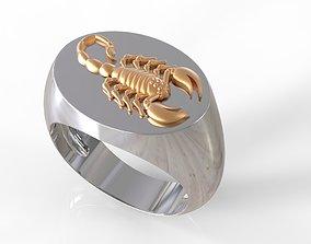 3D printable model scorpio man ring