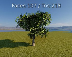 Lowpoly 3D Tree realtime