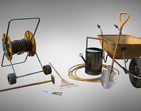 3D asset Low-Poly Garden Tools