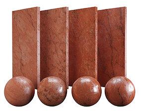 Red Verona Marble Texture PBR Vray Corona 400 x 3D asset 1