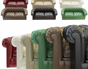 Chesterfield sofa chester 6 color leather 3D
